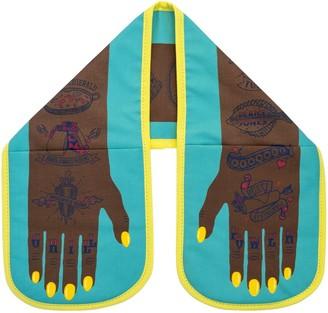Stuart Gardiner Design Grill Power Double Oven Glove (Dark Skin)