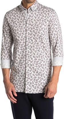 Ted Baker Paisley Print Shirt (Big & Tall)