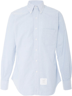 Thom Browne Cotton-Oxford Button-Down Shirt