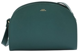 A.P.C. Glossy smooth leather Half-moon bag