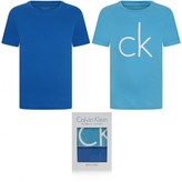 Calvin Klein Calvin KleinBoys Turquoise & Blue Short Sleeve Top Set (2 Pack)