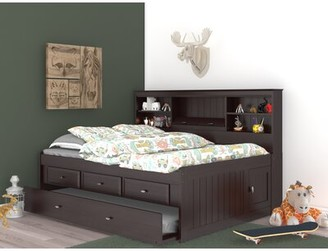 """Greyleighâ""""¢ Norberto Mate's & Captain's Bed with Trundle, Drawers and Bookcase Greyleigha Size: Full, Bed Frame Color: Rich Espresso"""