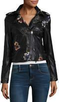 Vigoss Floral Embroidered Moto Jacket-Juniors