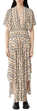 Maje Chain Print V-Neck Maxi Dress