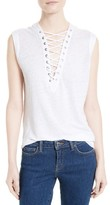 IRO Women's Lace-Up Linen Tank