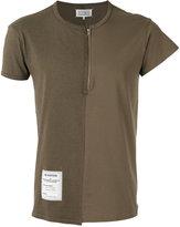 Maison Margiela zip front T-shirt - men - Cotton - 46
