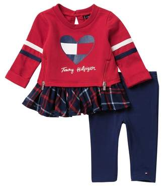 Tommy Hilfiger Zip Tunic & Leggings Set (Baby Girls)