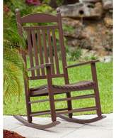 Polywood Rocker Jefferson Rocking Chair Color: Mahogany