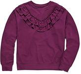 Arizona LS Ruffle Yoke Sweatshirt - Girls' 7-16 & Plus