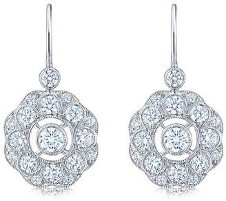 Kwiat 18kt white gold Splendor diamond drop earrings