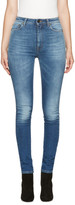 Saint Laurent Blue High-Waist Skinny Jeans