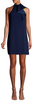 Trina Turk Capilla Classic Crepe Mockneck Sheath Dress