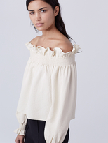 Diane von Furstenberg Georgie Off the Shoulder Top