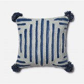 Lulu & Georgia Justina Blakeney Grid Pillow, Blue