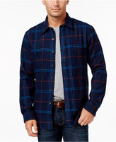Club Room Men's Big and Tall Long-Sleeve Plaid Shirt, Only at Macy's