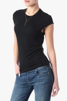 7 For All Mankind Ribbed Knit With Vented Back In Black