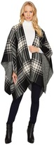 Steve Madden Twill and Plaid Reversible Ruana Women's Coat