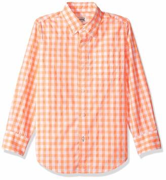 LOOK by crewcuts Boys' Long Sleeve Gingham Shirt