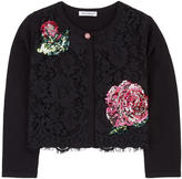 Dolce & Gabbana Mini Me lace and sequins cardigan