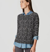 LOFT Petite Ivy Button Back Sweater