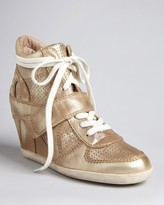 Ash Lace Up High Top Wedge Sneakers - Bowie