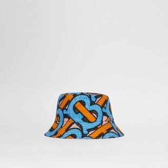 Burberry Monogram Print Cotton Canvas Bucket Hat