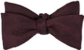 Drakes Drake's Men's Silk Bow Tie-BURGUNDY