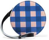 Diane von Furstenberg Circle Gingham Leather Pouch - Blue