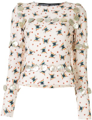 Chopova Lowena butterfly print T-shirt