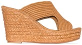 Carrie Forbes Lina 40mm raffia wedge sandals