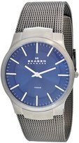 Skagen Men's 694XLTTN Titanium Collection Gray Mesh Stainless Steel Dial Watch