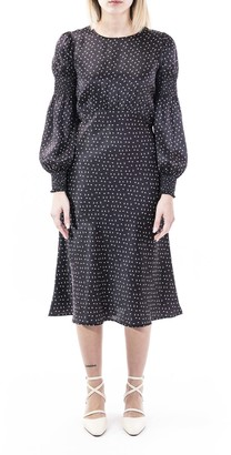 L'Autre Chose Silk Midi Dress