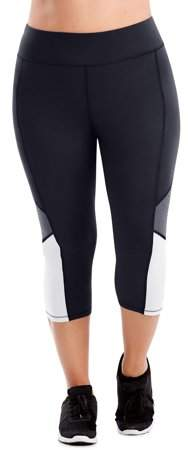 4009caf7668 Black And White Colorblock Leggings - ShopStyle