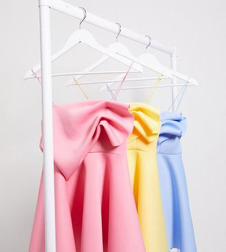 ASOS DESIGN Petite exclusive tuck detail cami skater mini dress in rose