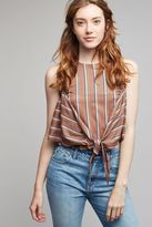 Anthropologie Esma Striped Knotted Top
