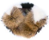 Mr & Mrs Italy - Intarsia collar - women - Racoon Fur - One Size