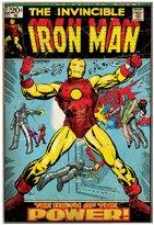 Marvel Silver Buffalo MC5336 Comics Iron Man Wood Wall Decor, 13 in. x 19 in