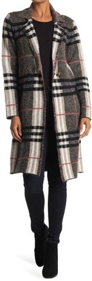 Cyrus Plaid Print Trench Coat