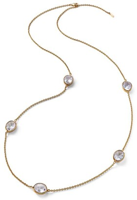 Baccarat Vermeil and Crystal Croise Long Necklace