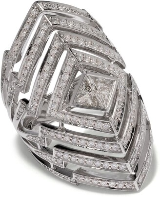 Stephen Webster 18kt white gold Lady Stardust diamond ring