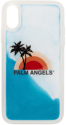 Palm Angels Blue and Multicolor Sunset iPhone XR Case