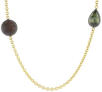 Todd Reed Tourmaline and Diamond Station Necklace
