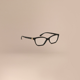 Burberry Check Detail Cat-eye Optical Frames