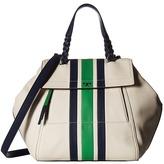 Tory Burch Half-Moon Stripe Satchel Satchel Handbags