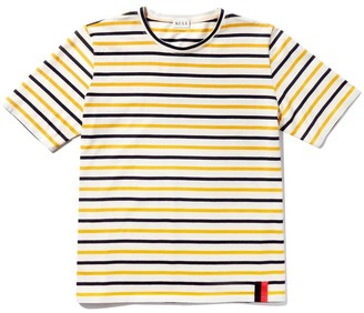 Kule The Modern Top in Cream/Navy/Gold