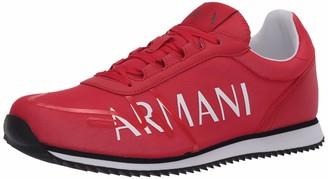 Armani Exchange A|X Men's Micro Fiber Mesh Armani Logo Lace Up Sneaker