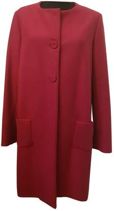 Alexis Pink Wool Coat for Women