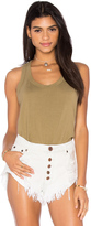 Wilt Lux Cotton Mock Layer Tank