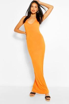 boohoo V Neck Sleeveless Maxi Dress