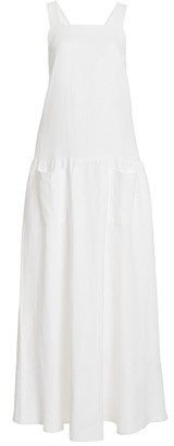 MATIN Linen Apron Maxi Dress